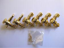 Klemm-Mechanik Schaller M6 Locking Satz - 6 inline Gold