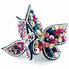 Butterfly BARRETTE use Swarovski Crystal Hair Clip Hairpin Elegant Multi Color