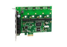 OpenVox A400E A400E00 4 Port Analog PCI-E Base Card, No Modules, Ethernet (RJ45)