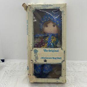 VINTAGE Holly Hobbie Miniature Rag Doll Original Box Knickerbocker 3420 70s Toy
