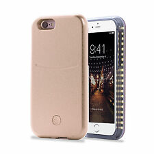 LED Light Up Selfie Shockproof Phone Case Power Bank Cover iPhone 6 6S - Gold