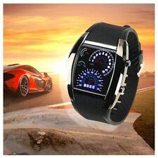Unisex Cool Black LED Racing Racing Wrist Watch