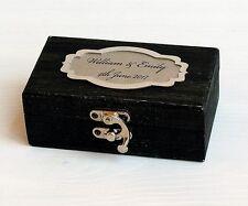 Personalized Wedding Box,Wedding ring box, Ring bearer box, Wooden Wedding Box