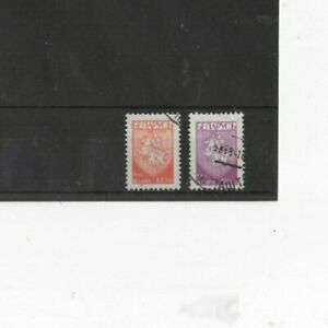 BELARUS , 1992, SG25/26 TYPE 7 100r RED AND 150r PURPLE, USED...