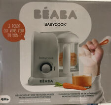 Beaba Babycook 4-in-1 Baby Food Maker - Steam, Cook, Blend - White/Silver