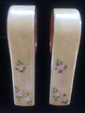 Vintage Plastic Celluloid Baby Blanket Clips - 1940s - Delicate Pink Flower Trim