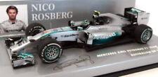 Voitures de courses miniatures gris en résine pour Mercedes