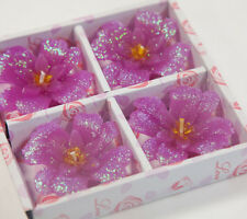 Floating Glitter Clover Flower Candles Pack of 4 Home Decor Wedding Events