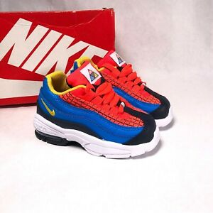 Size 6 Toddler Kid's Nike Air Max 95 TD Sneakers CI5644-600 Bright Crimson