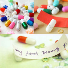 50PCS Kawaii Message in a Bottle Capsule Letter Cute Love Friendship Pills Gift