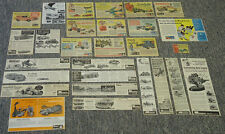 1960s MONOGRAM Hobby Kit Ad Collection ~ Lot of 52 ads