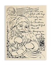 Stampendous Santa Collage Wood Stamp 1 Pc