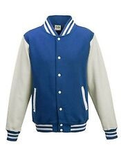 Collegejacke Varsity Jacket Baseball bis XXL Sweatjacke JustHoods Übergangsjacke