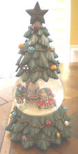 "SAN FRANCISO MUSIC BOX COMPANY CHRISTMAS TREE WATERGLOBE ""O'Tannebaum"