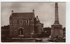 MUIR TOWN HALL AND WAR MEMORIAL, DOUNE: Perthshire postcard (C7539)