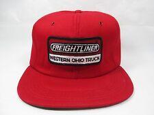 Vtg Freightliner Western Ohio Truck Red Padded Trucker Snapback Hat Tonkin USA