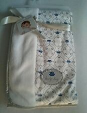Baby Blankets & Beyond Baby Boy Blue Crowns Little Prince Blanket  NWT