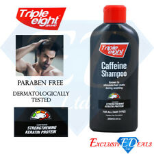 Triple Eight Caffeine Shampoo Keratin Protein Hair Growth - 250ml Bottle