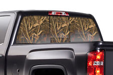 GMC Sierra Chevy Silverado Window Wrap Vision Graphics Sticker Decal 14-17 WING