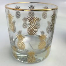 Williams-Sonoma Gold Pineapple Double Old-Fashioned Glass Cocktail