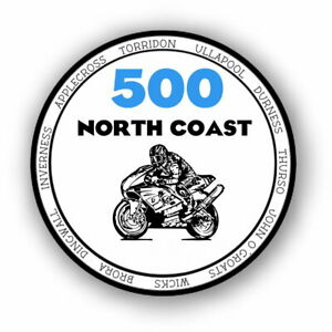 1x North Coast 500 Vinyl Motorcycle Bike Sticker Decal NC500 #2283