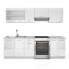 Oskar Raul 240 Cm Hochglanz Küchenzeile - Weiß