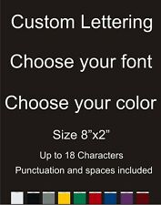 "Custom Text/Name/Logo Vinyl car Window/Laptop Decal Sticker 2x8"" Choose Color"