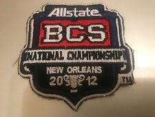 2012 ALLSTATE BCS NATIONAL CHAMPIONSHIP JERSEY PATCH IRON ON OR SEW ON