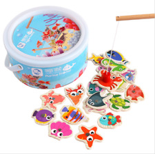 60pcs Set 3 Rod 3D Fishing Toy Magnetic Fishing Toy Game Kids Children Xmas Gift