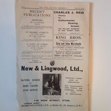 Old Print Advertisement 1943 New & Lingwood Ltd  King Bros Charles J Reid- 1AD