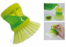 3 Pcs Cleaning Brush with Liquid Soap Dispenser Kitchen Sink Utensil