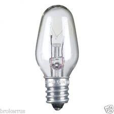 1 Night Light Clear REPLACEMENT BULB 7 watt candelabra base c7 e12 SUNBEAM 7w