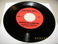 Mariachi Infantil Corrido De La Martina / Saluda A California 45 VG+ #779