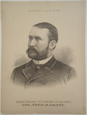 Pres. US Grant Son COL. FRED. D. GRANT for NY Secretary of State Judge Mag Print
