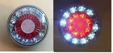 2x LED 24V Side tail lights for truck lorry caravan camper red white hamburger