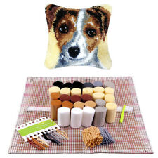 DIY Latch Hook Rug Making Kits Dogs Cushion Cover Embroidery Christmas Gift UK