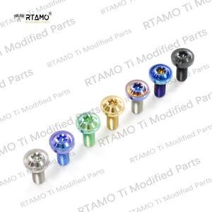 RTAMO | M8x20/24/25mm GR5 Titanium Alloy T40 Disc Pan Brake Bolts Single Piece