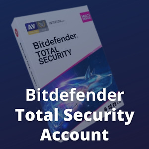 Bitdefender Total Security 2021 with VPN 1 User 1 Year Windows MAC Android & iOS