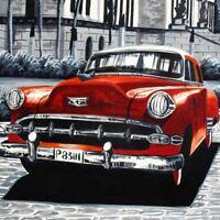 CADILLAC Oldtimer Original Bild auf Leinwand  KULT Havanna Chevrolet Ford Dodge