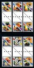 [SU1056GP] Surinam 2000 Tropical fruit Triangles Gutter pairs MNH