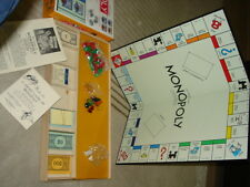 RARE PARKER BROTHERS MONOPOLY COLLECTOR YELLOW 1951? Board Game COMPLETE+ FRENCH