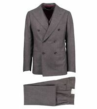NWT Caruso Purple Wool Double-Breasted Three Piece Suit Size 50/40 R Drop 9