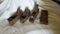 Four Antique Wooden Planes