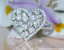 Vom Feinsten: Exquisiter Brillanten Herz Ring, 2.60 ct. TW-VS1 WG750 11.000€