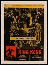 """Original KING KONG Italian Photobusta 18 3/4"""" X 26 1/2"""" Linenbacked FAY WRAY"""