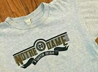 Vtg 70s 80s USA Champion Blue Heathered Retro Notre Dame Fightin Irish T Shirt L