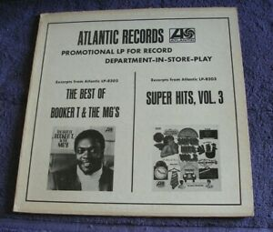 """Atlantic 1968 In-Store Play Promotional LP """"Booker T & The MG's / Super Hits 3"""""""