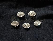 (5pcs) silver 3D diamond rhinestone nail art charms for nails, acrylic, gel