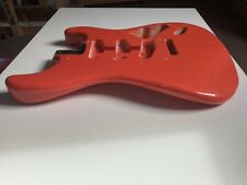 More details for mjt stratocaster body 1 piece swamp ash fiesta red