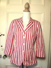 basler jacket blazer apricot white grey stripe